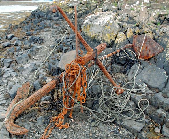 Old anchor at Croig slipway